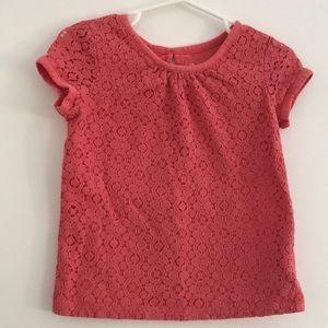 Girls Lace T-Shirt